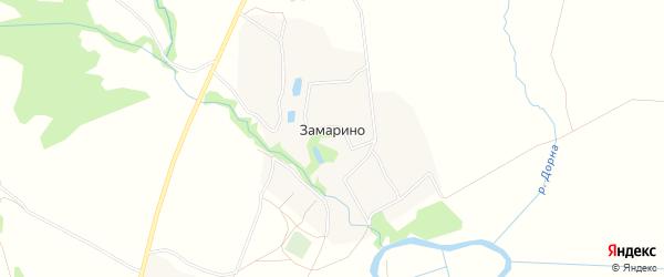 Карта деревни Замарино в Тульской области с улицами и номерами домов
