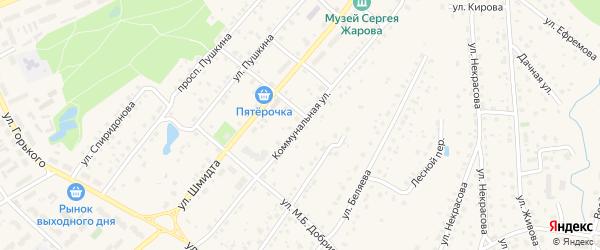 Коммунальная улица на карте Тарусы с номерами домов