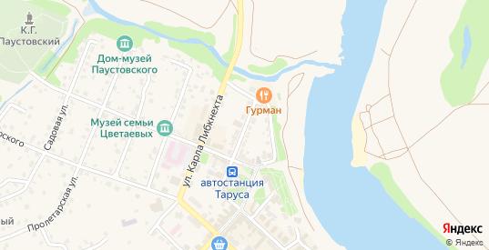 Комсомольская улица в Тарусе с номерами домов на карте. Спутник и схема онлайн