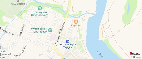 Комсомольская улица на карте Тарусы с номерами домов
