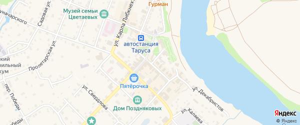 Октябрьская улица на карте Тарусы с номерами домов