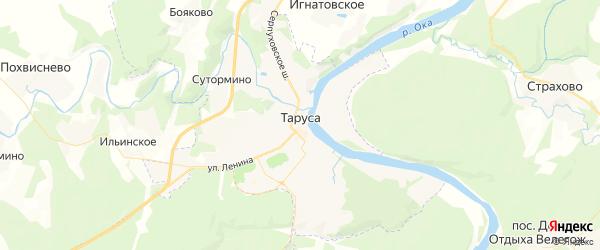 Карта Тарусы с районами, улицами и номерами домов