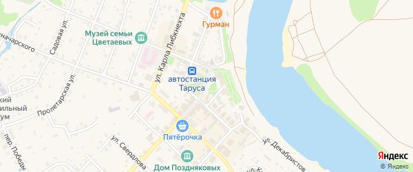 1-й Московский переулок на карте Тарусы с номерами домов
