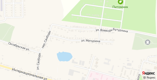 Улица Мичурина в Короче с номерами домов на карте. Спутник и схема онлайн