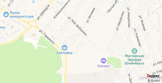 Переулок Беляева в Тарусе с номерами домов на карте. Спутник и схема онлайн