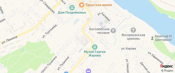 Улица Нерезова на карте Тарусы с номерами домов