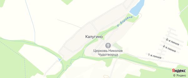 Карта деревни Калугино в Московской области с улицами и номерами домов