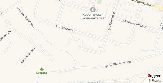 Переулок Гагарина в Короче с номерами домов на карте. Спутник и схема онлайн