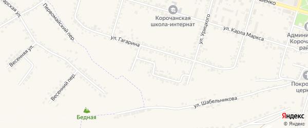 Переулок Гагарина на карте Корочи с номерами домов