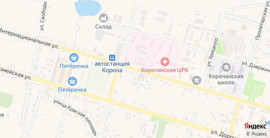Интернациональная улица в Короче с номерами домов на карте. Спутник и схема онлайн