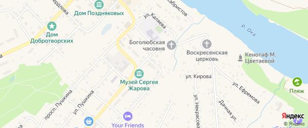 Улица Толстого на карте Тарусы с номерами домов