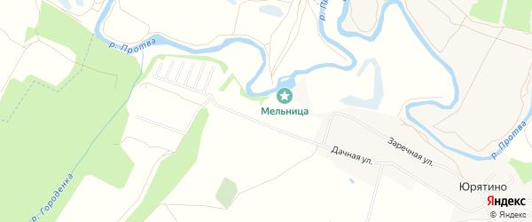 Карта территории Сдт Протва-2 в Калужской области с улицами и номерами домов