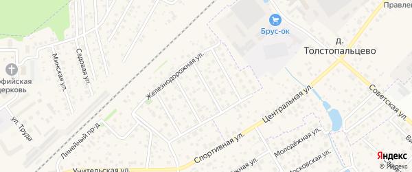 Дорожный 3-й проезд на карте поселка Кокошкино с номерами домов