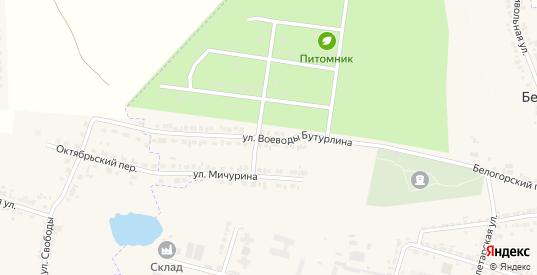 Улица Бутурлина в Короче с номерами домов на карте. Спутник и схема онлайн