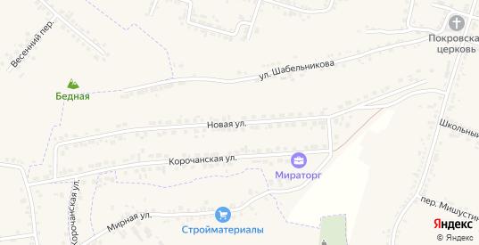 Новая улица в Короче с номерами домов на карте. Спутник и схема онлайн