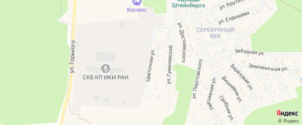 Цветочная улица на карте Тарусы с номерами домов