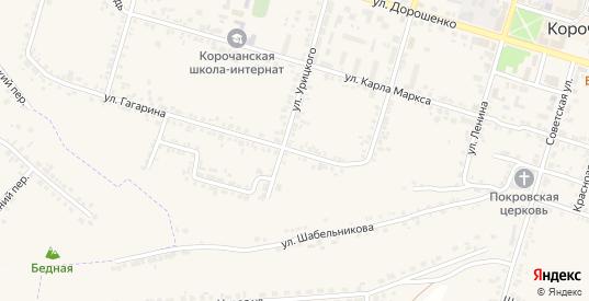 Улица Гагарина в Короче с номерами домов на карте. Спутник и схема онлайн