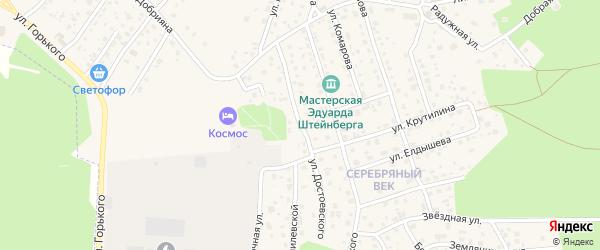 Улица Достоевского на карте Тарусы с номерами домов