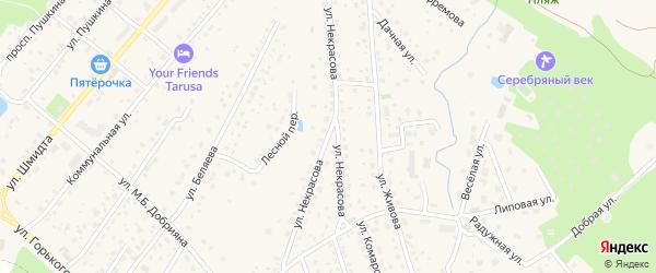 Улица Некрасова на карте Тарусы с номерами домов