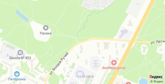 Улица Болдов Ручей в Зеленограде с номерами домов на карте. Спутник и схема онлайн