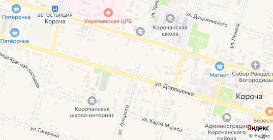 Улица Урицкого в Короче с номерами домов на карте. Спутник и схема онлайн