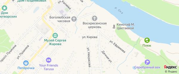 Улица Кирова на карте Тарусы с номерами домов