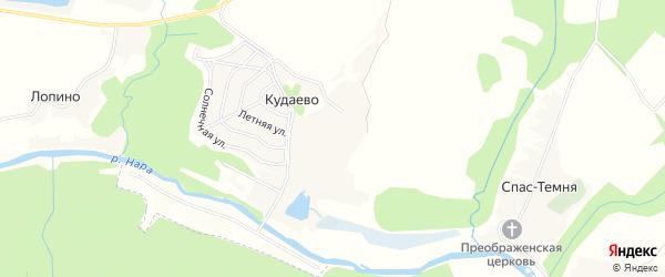 Карта деревни Кудаево города Чехов в Московской области с улицами и номерами домов