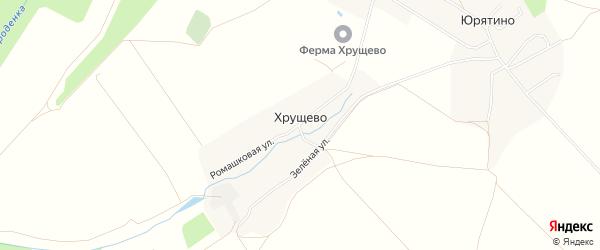Карта деревни Хрущево в Калужской области с улицами и номерами домов