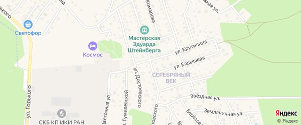 Улица Паустовского на карте Тарусы с номерами домов