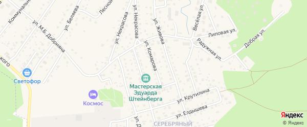 Улица Комарова на карте Тарусы с номерами домов