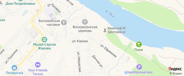 Улица Ефремова на карте Тарусы с номерами домов