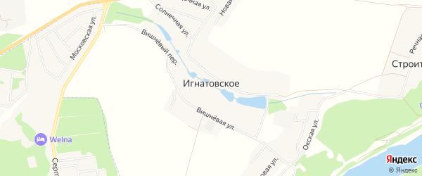 Карта деревни Игнатовского в Калужской области с улицами и номерами домов