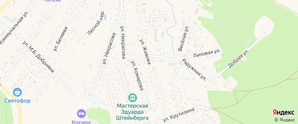 Переулок Живова на карте Тарусы с номерами домов