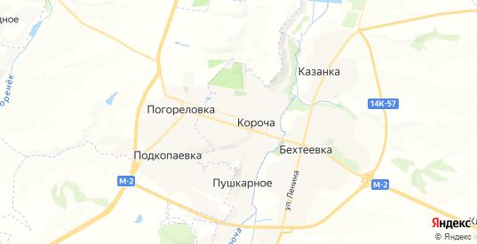 Карта Корочи с улицами и домами подробная. Показать со спутника номера домов онлайн