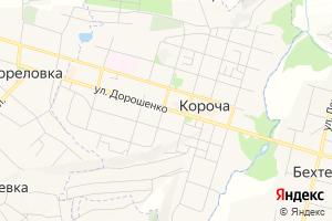 Карта г. Короча Белгородская область