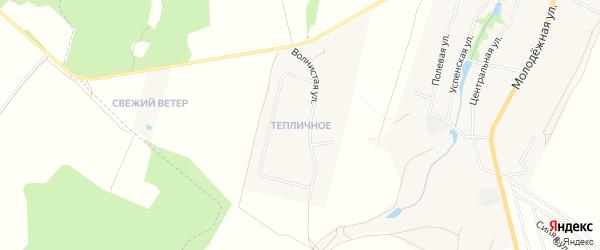Микрорайон Тепличное на карте Волковского села Калужской области с номерами домов