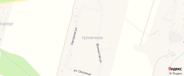 Цветущая улица на карте микрорайона Тепличного Калужской области с номерами домов