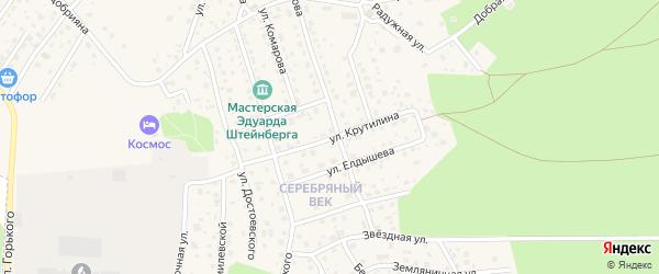 Улица Крутилина на карте Тарусы с номерами домов