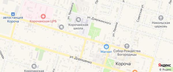 Пролетарская улица на карте Корочи с номерами домов