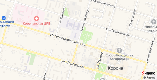 Пролетарская улица в Короче с номерами домов на карте. Спутник и схема онлайн