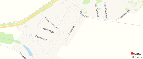 Новая улица на карте села Кузьмищево Калужской области с номерами домов