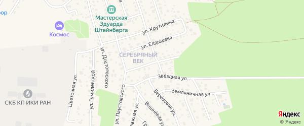 Березовый переулок на карте Тарусы с номерами домов