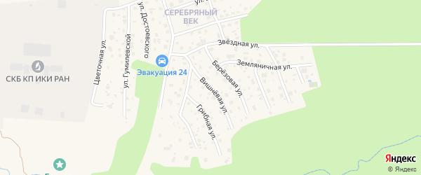 Вишневая улица на карте Тарусы с номерами домов