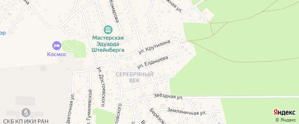 Улица Елдышева на карте Тарусы с номерами домов