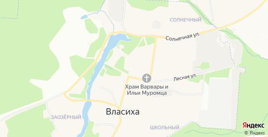 Карта поселка Власиха в Московской области с улицами, домами и почтовыми отделениями со спутника онлайн