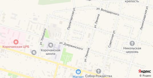 Переулок Кабанова в Короче с номерами домов на карте. Спутник и схема онлайн