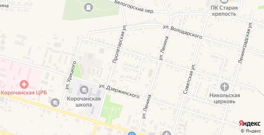 Улица Кабанова в Короче с номерами домов на карте. Спутник и схема онлайн