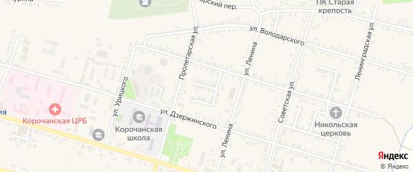 Улица Кабанова на карте Корочи с номерами домов
