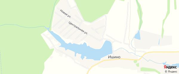 Карта деревни Ишино города Чехов в Московской области с улицами и номерами домов