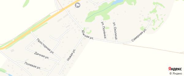 Южная улица на карте села Кузьмищево Калужской области с номерами домов